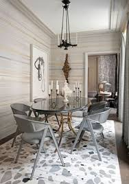 elegant gold metal oval dining table for grey modern chairs matte surfaces an elegant color palette of grey ochre gold and silver to give the e