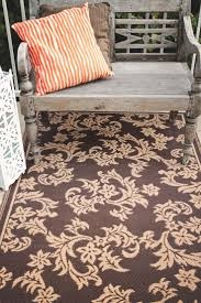 Fab Habitat Recycled Plastic Rug - Indoor / Outdoor Rug: Versailles -  Chocolate Brown &
