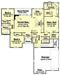 traditional style house plan 3 beds 2 5 baths 1800 sq ft 430 best ranch plans