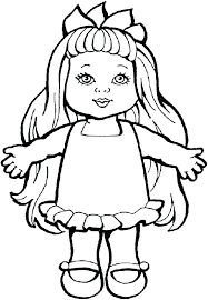 Barbie Dolls Coloring Pages Free Doll For Coloring Baby Doll Color