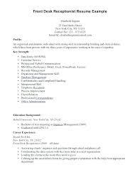 Hotel Front Desk Sample Resume Front Desk Clerk Resume Examples