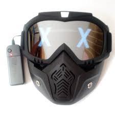 Goggles Led Light Mask Amazon Com Kimtan Led Lights Mask Luminous Half Face X