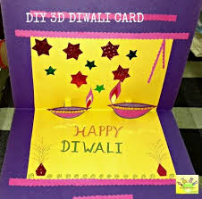 Diy 3d Diwali Card