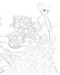 Chibi Coloring Page T2733 Anime Coloring Page Coloring Page Cute