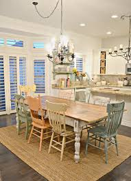 Dining Room: Farmhouse Dining Room And Kitchen Island - Dining Rooms