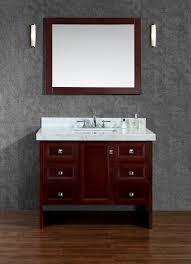 beckonridge 42 single sink bathroom vanity set with mirror with sizing 854 x 1178
