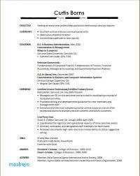 Recent College Graduate Resume No Experience