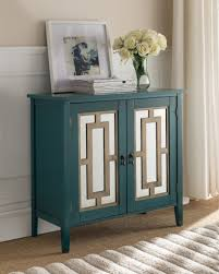 Antique Blue Wood Contemporary Accent Entryway Sofa Display Table