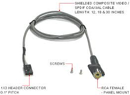 frontx bulkhead rca video (composite video) spdif coaxial rca video cable wiring diagram bulkhead rca video or spdif Rca Video Cable Wiring Diagram