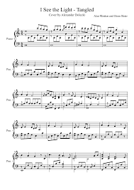In The Light Sheet Music I See The Light Tangled Piano Solo Free Sheet Music