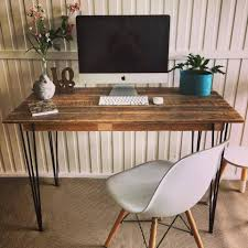 buy pallet furniture. Pallet Computer Desk With Hairpin Metal Legs - 125 Awesome DIY Furniture Ideas 101 Part 5 Buy