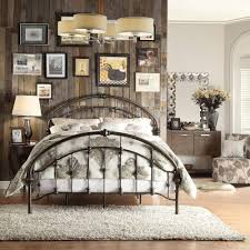 HomeSullivan Miranda Bronzed Black Queen Bed Frame