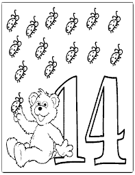 Small Picture Best Photos Of Number Coloring Pages 14 Number 14 Coloring