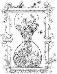 Zandloper Instant Download Volwassen Coloring Pages Etsy
