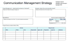 Communications Internal Communication Strategy Template Corporate
