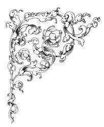 dreamy romantic scrolls wedding clip art