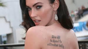 Megan Fox Back Tattoo Actors Fptattooscom