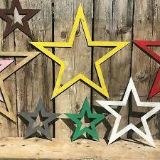 metal rustic stars star sign garden