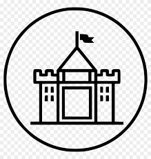 restaurant building clipart black and white. Contemporary And Hotel Castle Luxury Building Kingdom Royalty Restaurant  On Clipart Black And White O