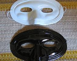 Plastic Masks To Decorate Blank mask Etsy 51