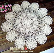 small round table cloth french fashion style handmade crochet small round table runner fashion vintage cotton