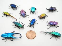 Wesley Fleming , glass sculptor - artwork, 'Mini Dichroic Jewel Beetles'