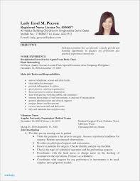 Resume Sample Format For Job Application New Cna Resume Sample New