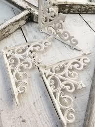 Decorative Wooden Shelf Brackets White Polished Cast Iron Wall Brackets Of Magnificent Decorative