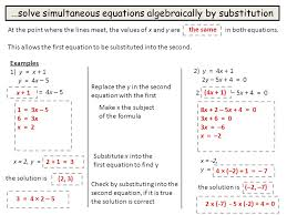 5 solve simultaneous equations algebraically