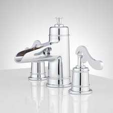 brushed chrome bathroom faucets. Melton Widespread Waterfall Bathroom Faucet - Chrome Side Brushed Faucets H