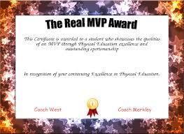 The Real Mvp Award Certificate Created With Certificatefun Com