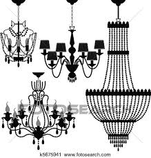 a set of light and chandelier