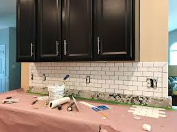 Tile Backsplash Install Custom How To Install A Subway Tile Kitchen Backsplash Young House Love