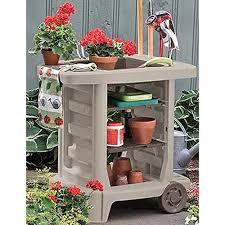 garden tool storage cart in garden tool