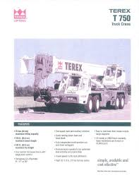 Terex T750 General Steel Crane Rigging Manualzz Com