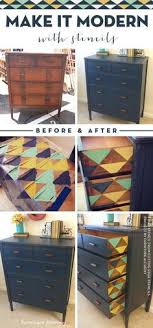 diy painting furniture ideas. Wonderful Ideas Cutting Edge Stencils Shares A Stenciled Furniture Idea Using The Triangle  Triad Stencil Www In Diy Painting Furniture Ideas