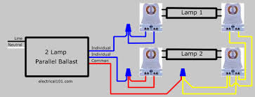 how to replace 2 lamp series ballast with parallel electrical 101 Electrical Ballast Wiring Diagram after 2 lamp series ballast is replaced fluorescent ballast wiring diagram