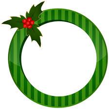 Best Stock Photos Christmas Round Green Frame Transparent Background