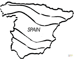 flag of spain coloring page fresh coloring page map of flag spain coloring page