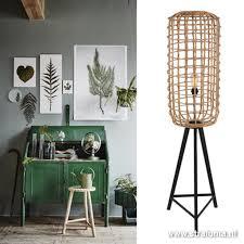 Botanische Vloerlamp Rotan Woonkamer Straluma
