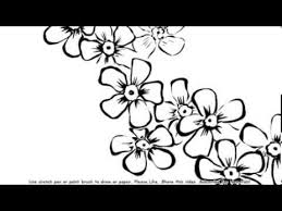 how to draw beautiful bunch of flowers