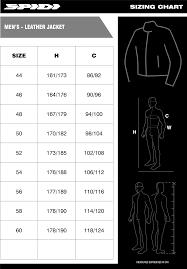 Leather Jacket Size Chart Size Charts Spidi Australia