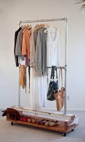 ... Wardrobe Racks, Close Rack Clothes Rack Amazon Commercial Clothes Rack  With Double Rod And Shoes ...