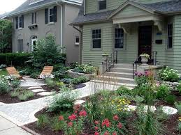 When you're short on space, bid a front lawn of grass adieu and say bonjour  to a front yard garden. Perennials intermixed with rock pathways, ...