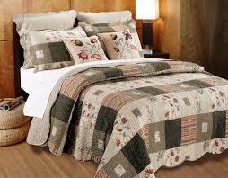 tan green fl patchwork bedding southwest quilt set twin xl full queen king cotton bedspread