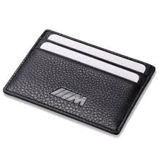bmw m slim mini wallet 100 genuine cow leather credit card case men holder car