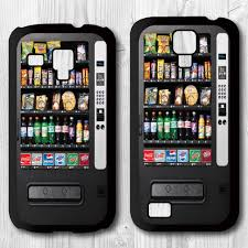 Portable Vending Machine Custom Vintage Snack Vending Machine Protective Cover Phone Case For