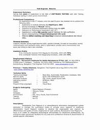 Automation Tester Resume 24 Fresh 24 Year Experience Resume Format For Testing Simple Resume 4