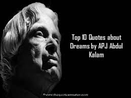 Quotes On Dreams Best Of Top 24 Quotes About Dreams By APJ Abdul Kalam
