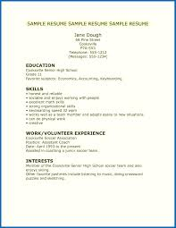 Sample Resume Templates Download Free High School Resume Template